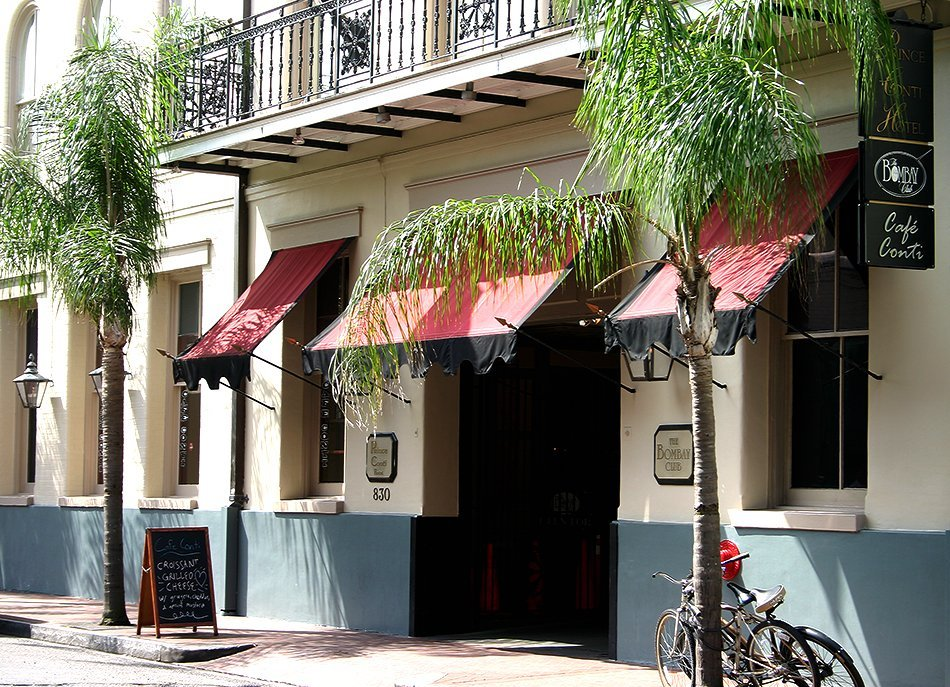 Exterior of the Bombay Club in New Orleans.