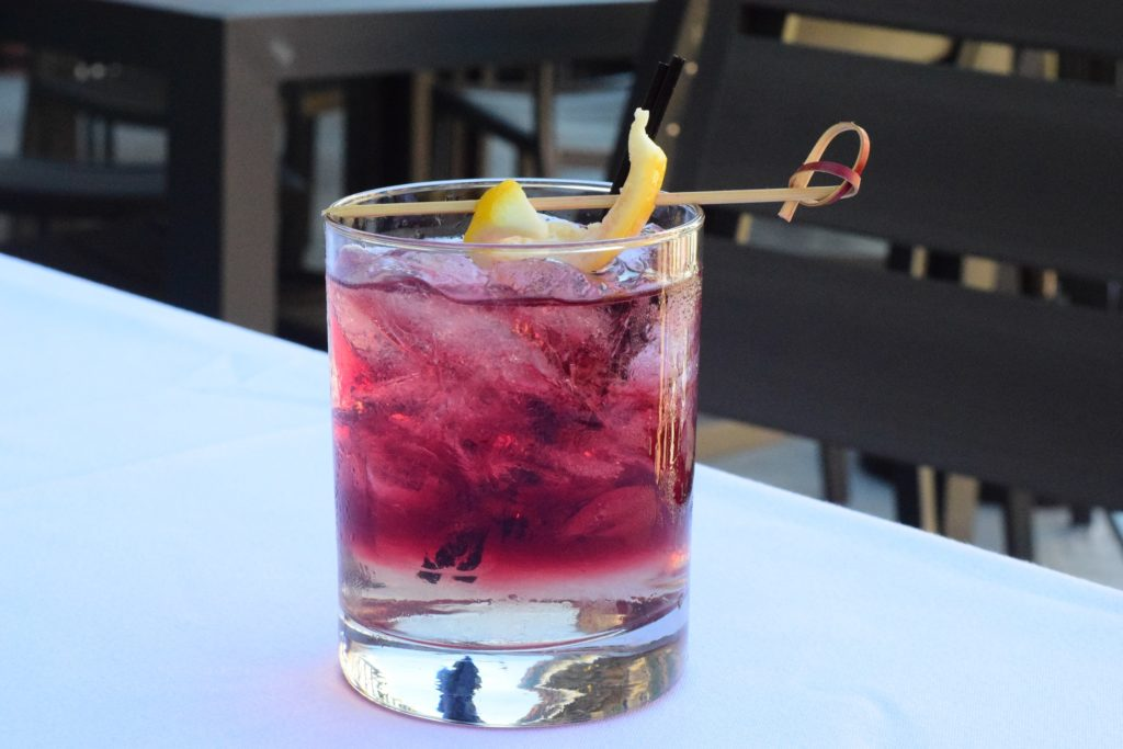 Glass of the Placeholder Cocktail from Trinity Restaurant in New Orleans