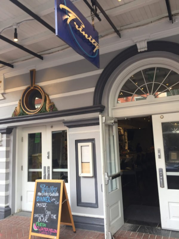 The exterior of Trinity Restaurant in New Orleans