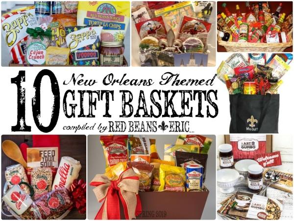 Christmas Gift Baskets 2019.10 New Orleans Themed Gift Baskets Spring 2019 Red Beans