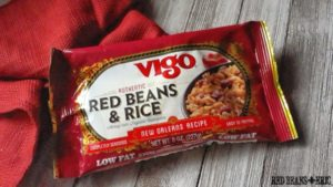 Package of Vigo Authentic Red Beans and Rice dinner mix